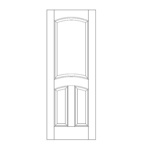 3-Panel Wood Door (DR3110)