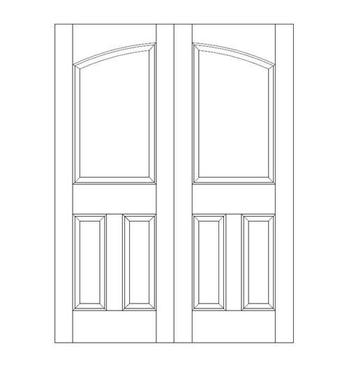 3-Panel Wood Door (DR3160CA)
