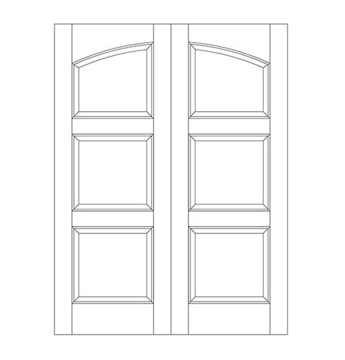 3-Panel Wood Door (DR3190CA)