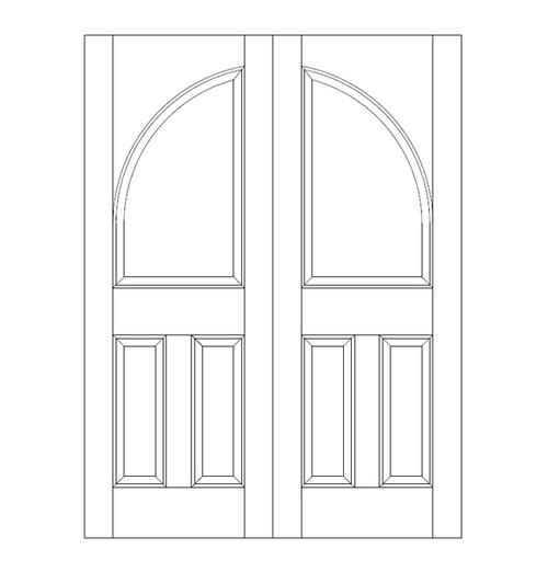 3-Panel Wood Door (DR3260CA)