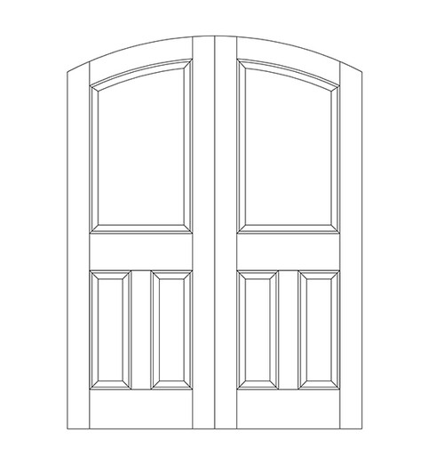3-Panel Wood Door (DR3500CA)