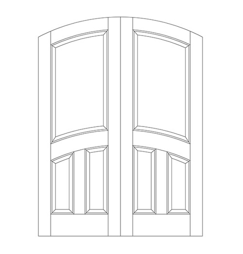 3-Panel Wood Door (DR3510CA)