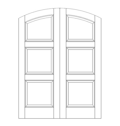 3-Panel Wood Door (DR3590CA)