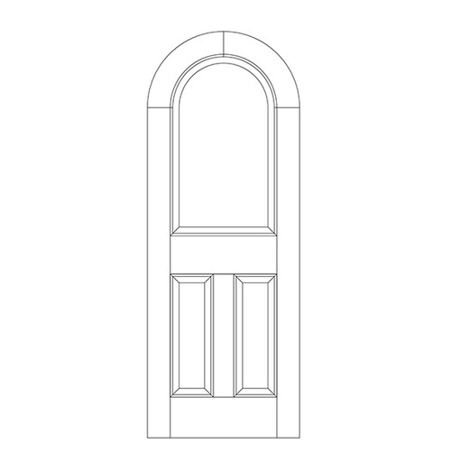 3-Panel Wood Door (DR3600)