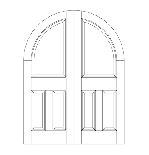 3-Panel Wood Door (DR3600CA)