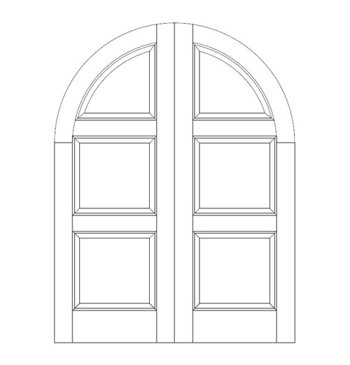 3-Panel Wood Door (DR3690CA)