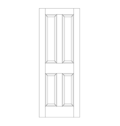4-Panel Wood Door (DR4000)