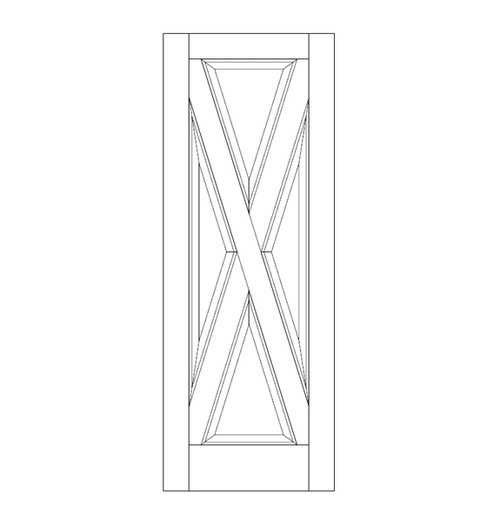 4-Panel Wood Door (DR4040)