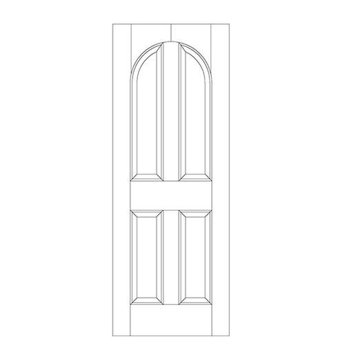 4-Panel Wood Door (DR4200)