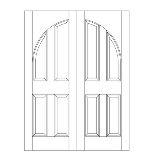 4-Panel Wood Door (DR4200CA)