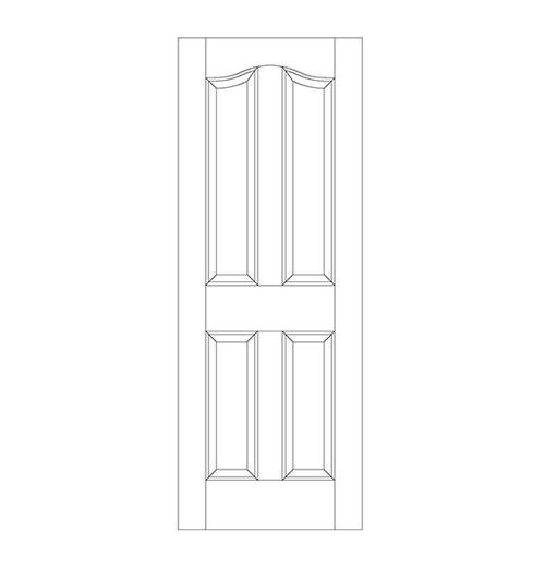 4-Panel Wood Door (DR4300)