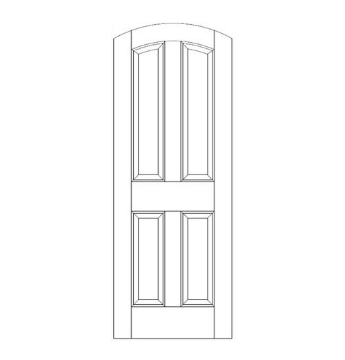 4-Panel Wood Door (DR4500)