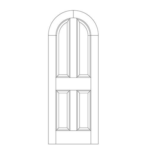 4-Panel Wood Door (DR4600)