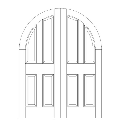 4-Panel Wood Door (DR4600CA)