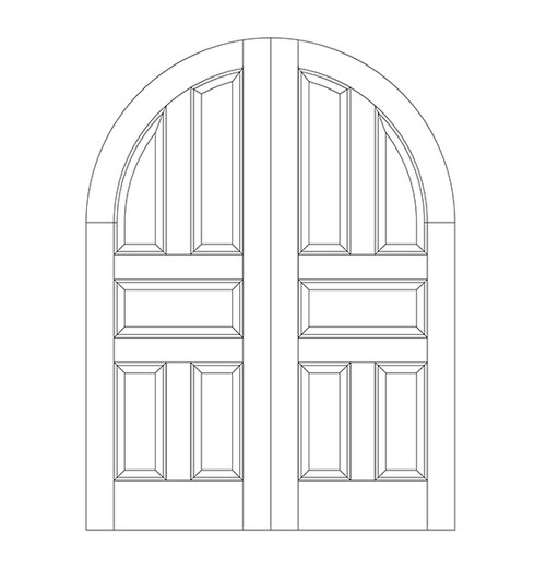 5-Panel Wood Door (DR5600CA)