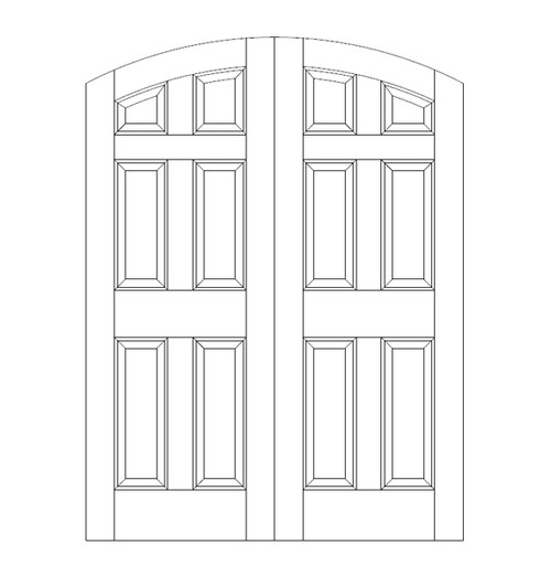 6-Panel Wood Door (DR6500CA)