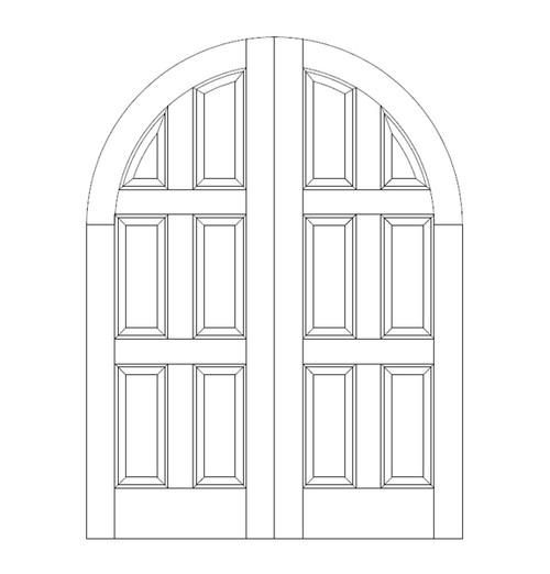 6-Panel Wood Door (DR6610CA)
