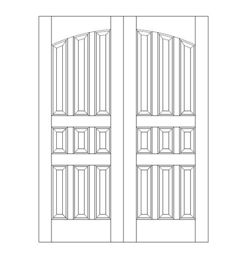 9-Panel Wood Door (DR9120CA)