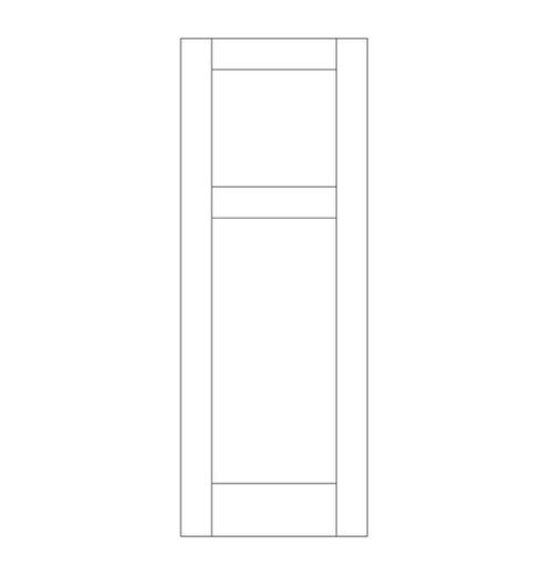 Flat Panel Wood Door (DM2000)