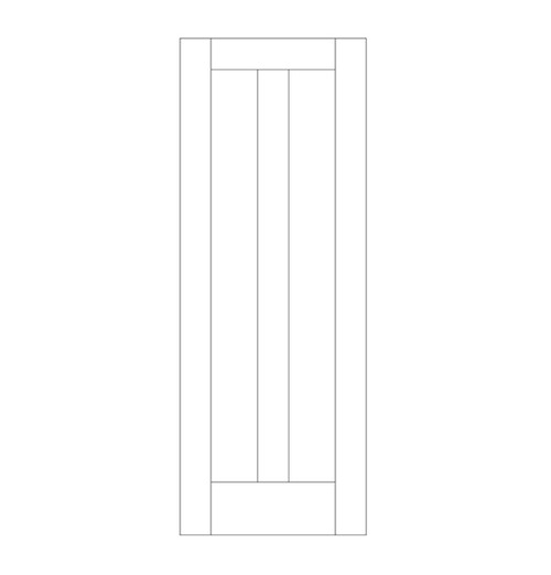 Flat Panel Wood Door (DM2010)