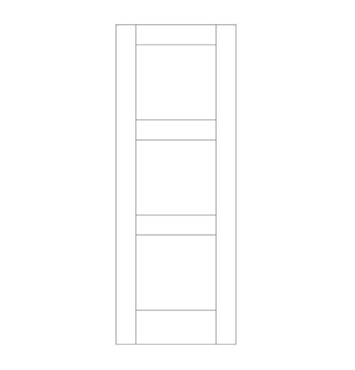 Flat Panel Wood Door (DM3000)