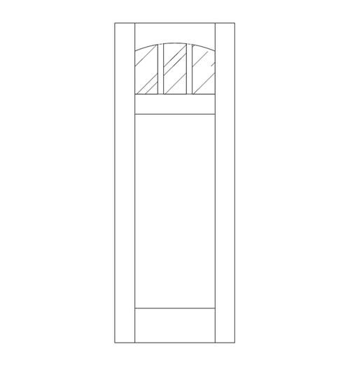 Flat Panel Wood Door (DM4110)
