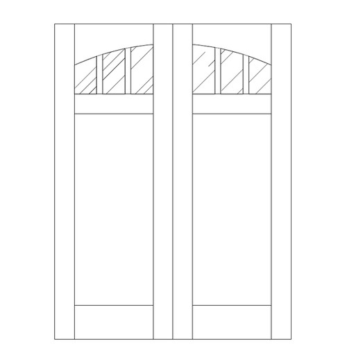 Flat Panel Wood Door (DM4110CA)