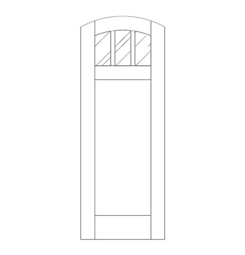 Flat Panel Wood Door (DM4510)