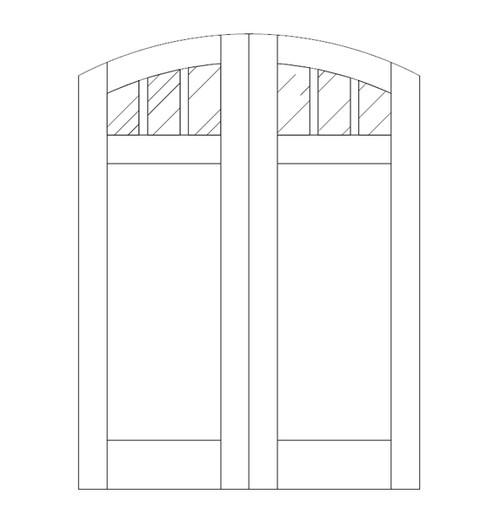 Flat Panel Wood Door (DM4510CA)