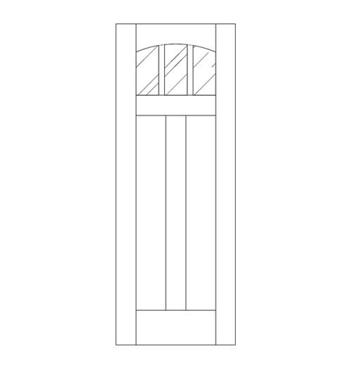 Flat Panel Wood Door (DM5110)