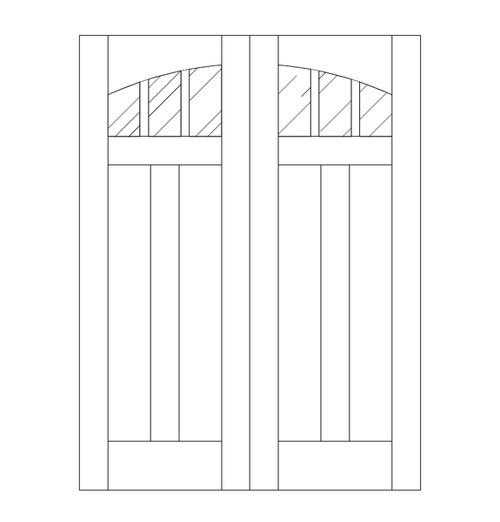 Flat Panel Wood Door (DM5110CA)