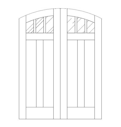 Flat Panel Wood Door (DM5510CA)