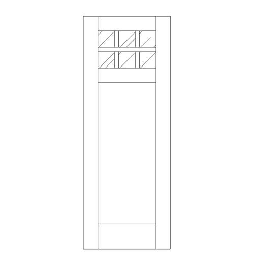 Flat Panel Wood Door (DM7000)