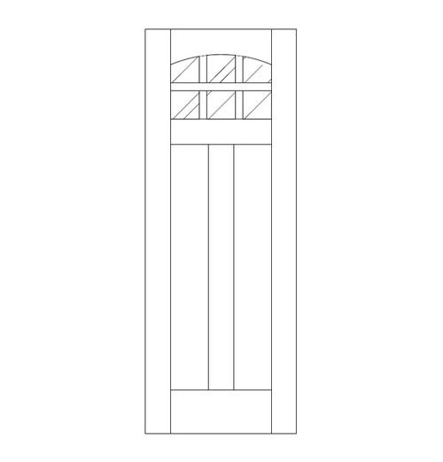 Flat Panel Wood Door (DM8100)