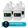 Hand Sanitizer, Unscented, 80% USP, 3.8L I 1G, Case of 4