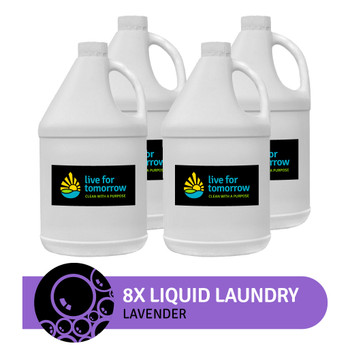 8x Liquid Laundry, Lavender, 380 loads, 3.8L | 1G, Case of 4