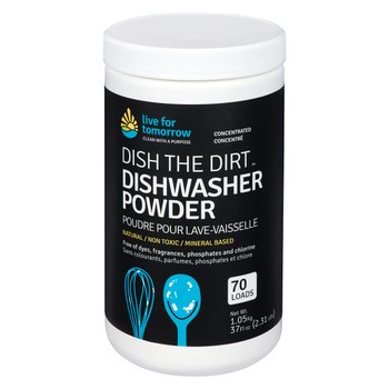 Dishwasher Powder, Unscented, 70 loads, 1.05kg | 2.31lb, Case of 6