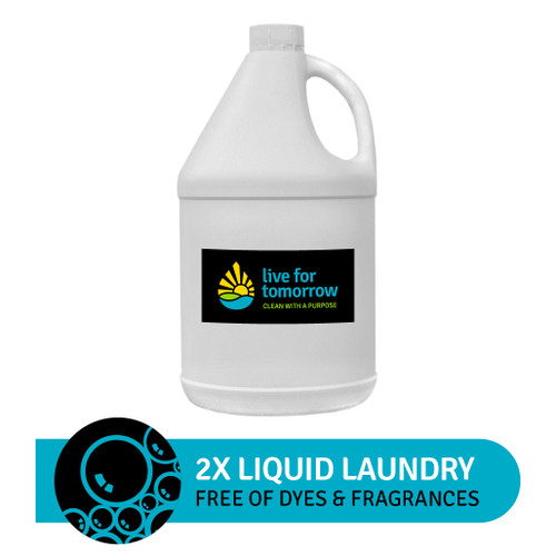 2x Liquid Laundry, Unscented, 120 loads, 3.8L I 1G