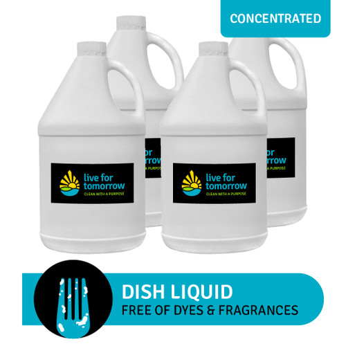 Dish Liquid, Concentrated, Unscented, 3.8L | 1G, Case of 4