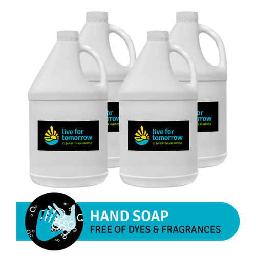 Hand Soap, Unscented, with Coconut & Sunflower Moisturizer, 3.8L | 1G, Case of 4