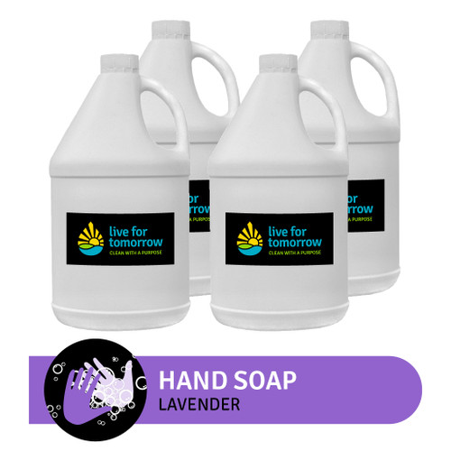 Hand Soap, Lavender, with Coconut & Sunflower Moisturizer, 3.8L | 1G, Case of 4
