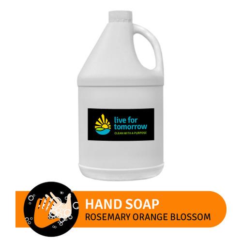 Hand Soap, Rosemary Orange Blossom, with Coconut & Sunflower Moisturizer, 3.8L | 1G