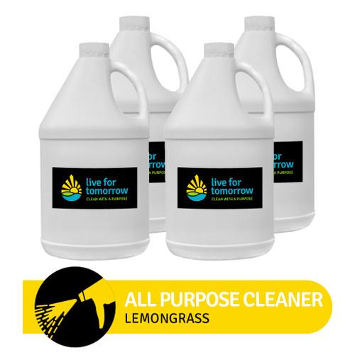 All Purpose Cleaner, Lemongrass, 3.8L I 1G, Case of 4