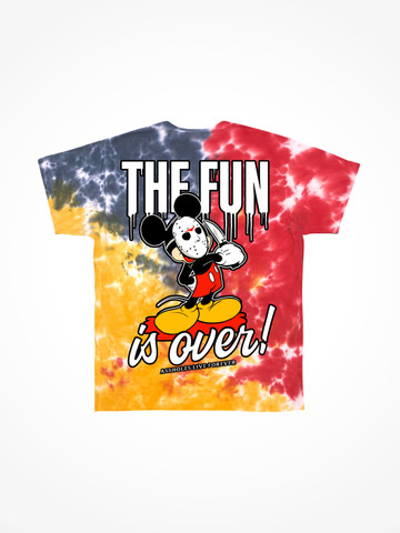 THE FUN IS OVER • Primary Tie Dye Tee