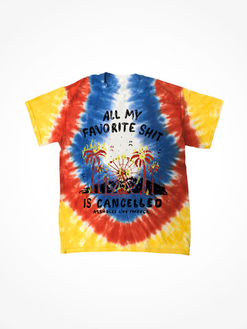 ALL MY FAVORITE SHIT IS CANCELLED • Summer Sin Tie Dye Tee