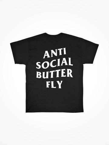 ANTI SOCIAL BUTTERFLY • Black Tee