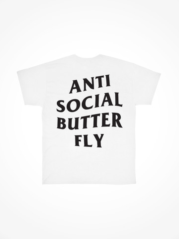 ANTI SOCIAL BUTTERFLY • White Tee