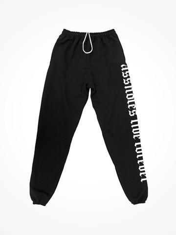 ASSHOLES LIVE FOREVER MEDIEVAL • Black Sweatpants