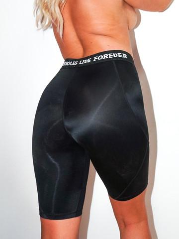 ASSHOLES LIVE FOREVER • Black Biker Workout Shorts