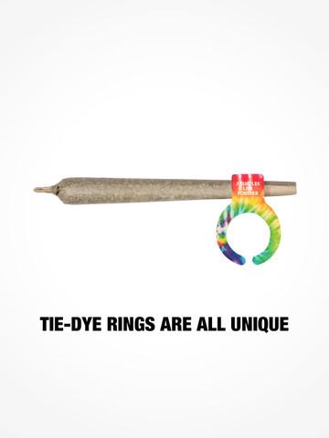 ASSHOLES LIVE FOREVER • Tie Dye Joint Holder Ring